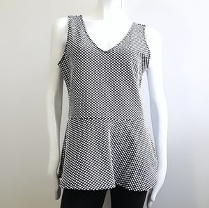 DIVIDED by H&M black/white polkadot peplum tunic